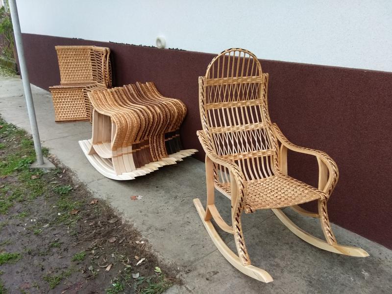 Кресло качалка буковое разборное из лозы от изготовителя - Фото 7