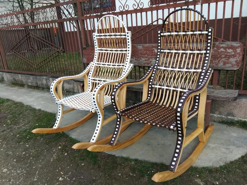 Кресло качалка буковое разборное из лозы от изготовителя - Фото 8
