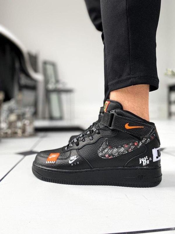 Nike air force 1 мужские стильные кроссовки - Фото 4