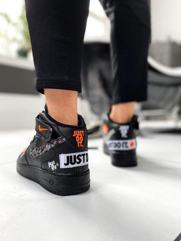 Nike air force 1 мужские стильные кроссовки - Фото 5
