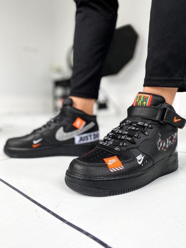 Nike air force 1 мужские стильные кроссовки - Фото 8
