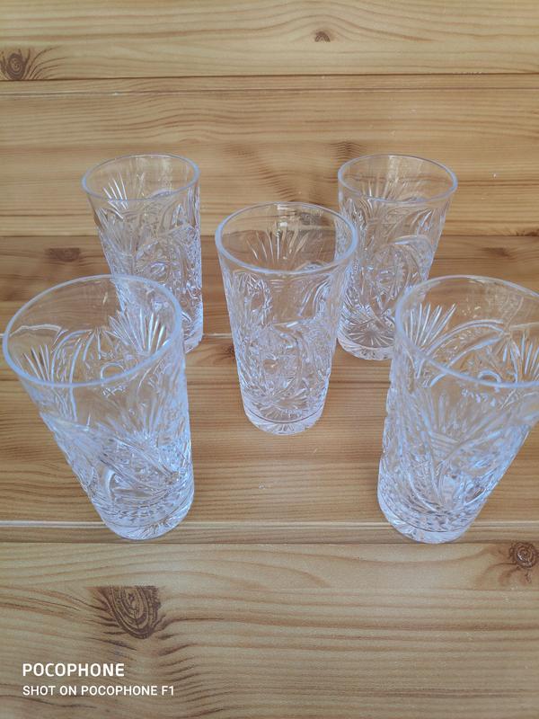 Винтаж Высокий хрустальный стакан - Фото 8