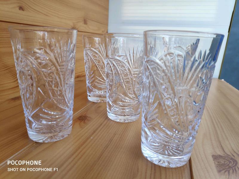 Винтаж Высокий хрустальный стакан - Фото 9