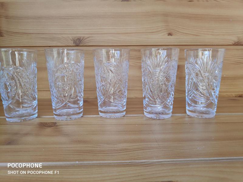 Винтаж Высокий хрустальный стакан - Фото 2