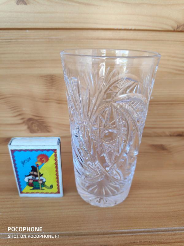 Винтаж Высокий хрустальный стакан - Фото 4