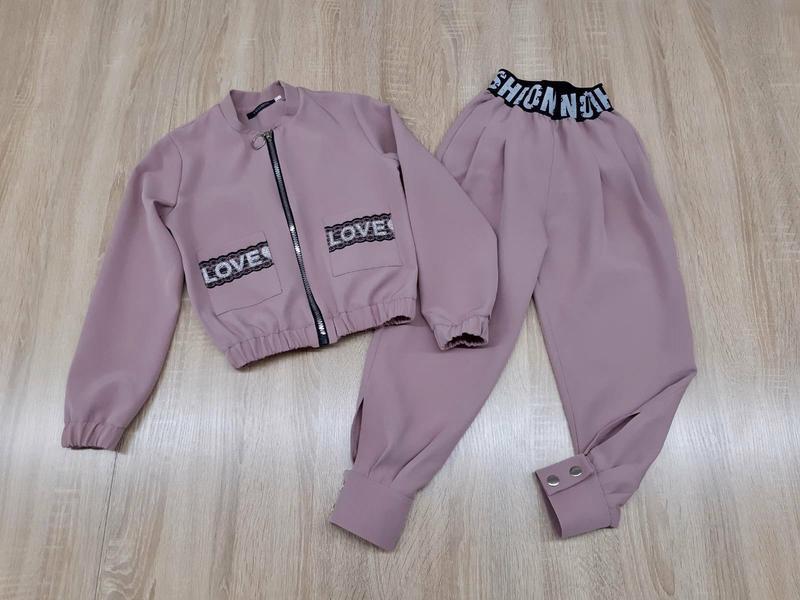 Крутой костюм для девочки, бомбер и джогеры - Фото 4