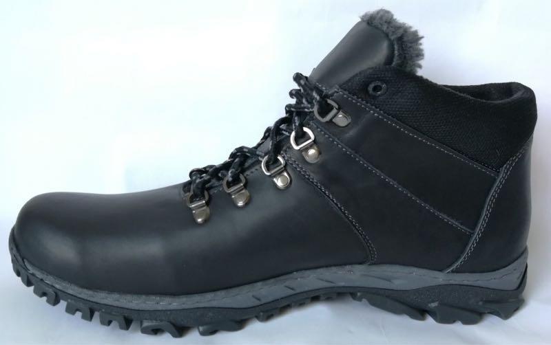 Ecco зимние удобные ботинки большого размера натуральная кожа бат - Фото 3