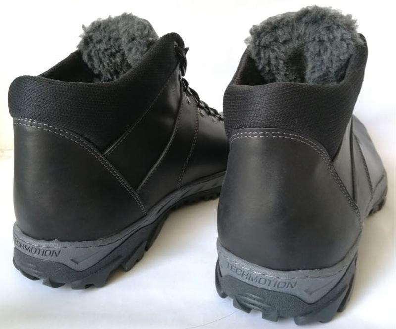 Ecco зимние удобные ботинки большого размера натуральная кожа бат - Фото 5