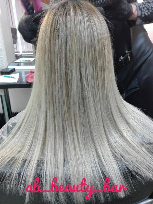 Кератиновое выравнивание и восстановление волос Наращивание волос - Фото 3