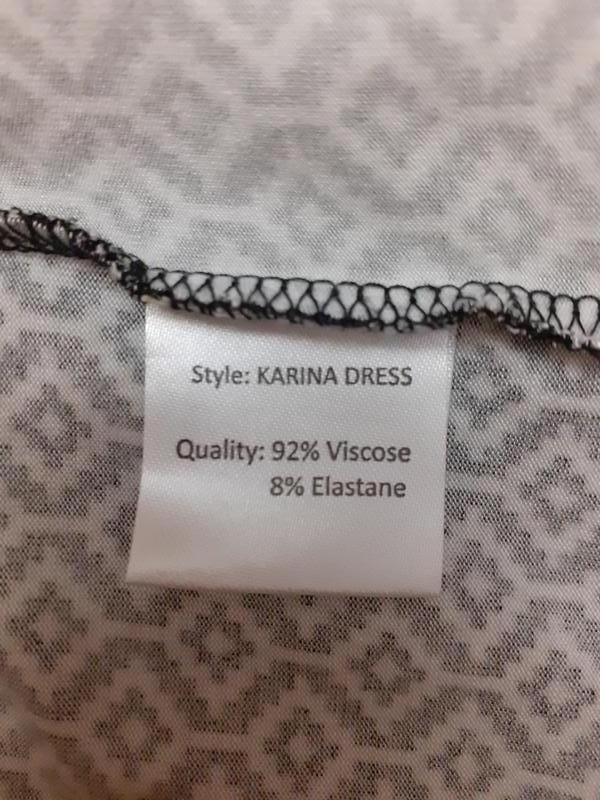 Очень стильное вискозное с карманами платье большого размера - Фото 3
