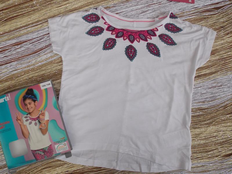 Белая футболка на девочку рост 122/128 Pepperts