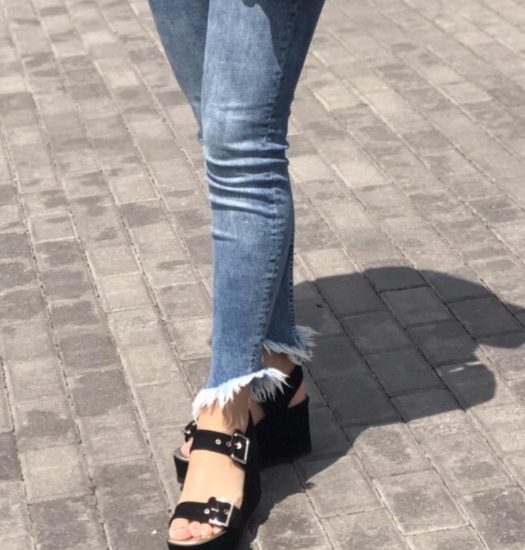Джинсы скинни джинси скінні bershka бершка - Фото 3