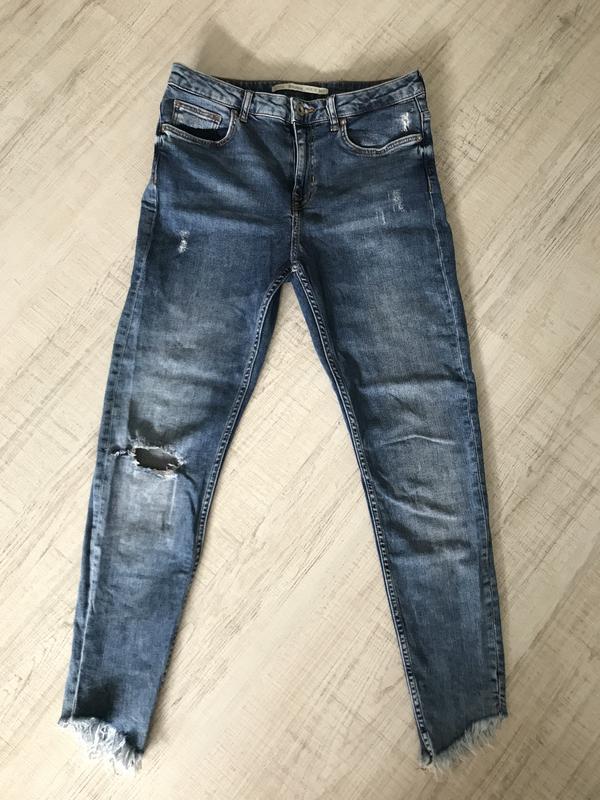 Джинсы скинни джинси скінні bershka бершка - Фото 4