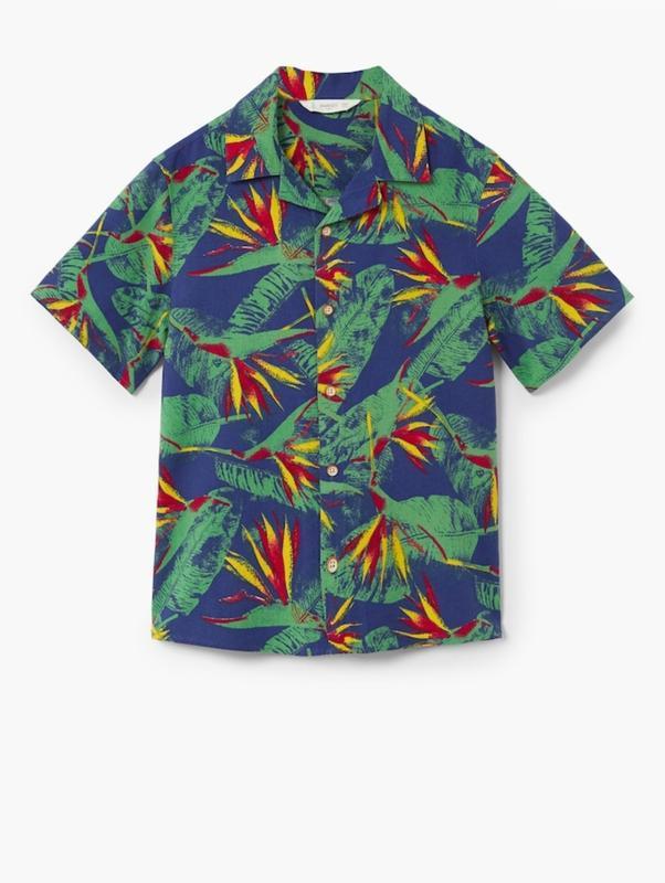 Летняя рубашка mango для мальчика