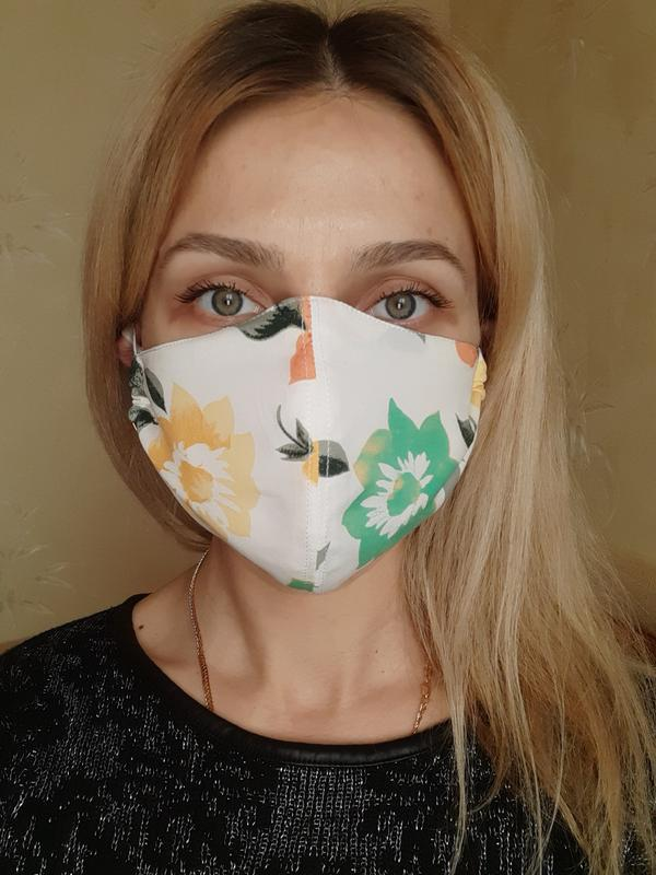 Маска защитная трёхслойная для лица - Фото 5