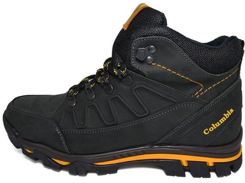 Зимние мужские кожаные ботинки натуральный мех черного цвета тепл - Фото 3