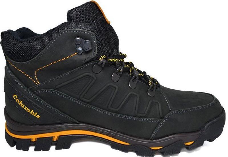 Зимние мужские кожаные ботинки натуральный мех черного цвета тепл - Фото 4