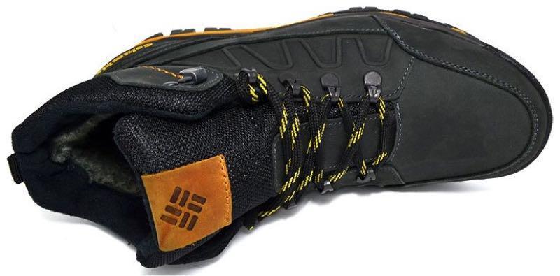 Зимние мужские кожаные ботинки натуральный мех черного цвета тепл - Фото 5