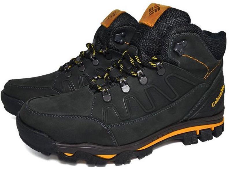 Зимние мужские кожаные ботинки натуральный мех черного цвета тепл - Фото 6