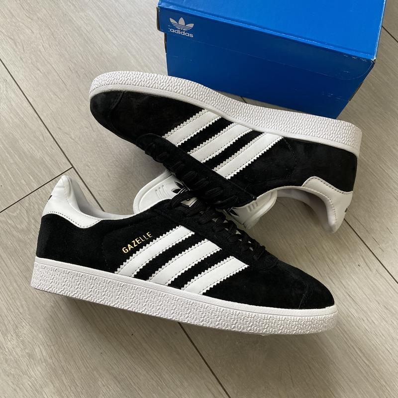 Женские черные кроссовки adidas gazelle - Фото 6