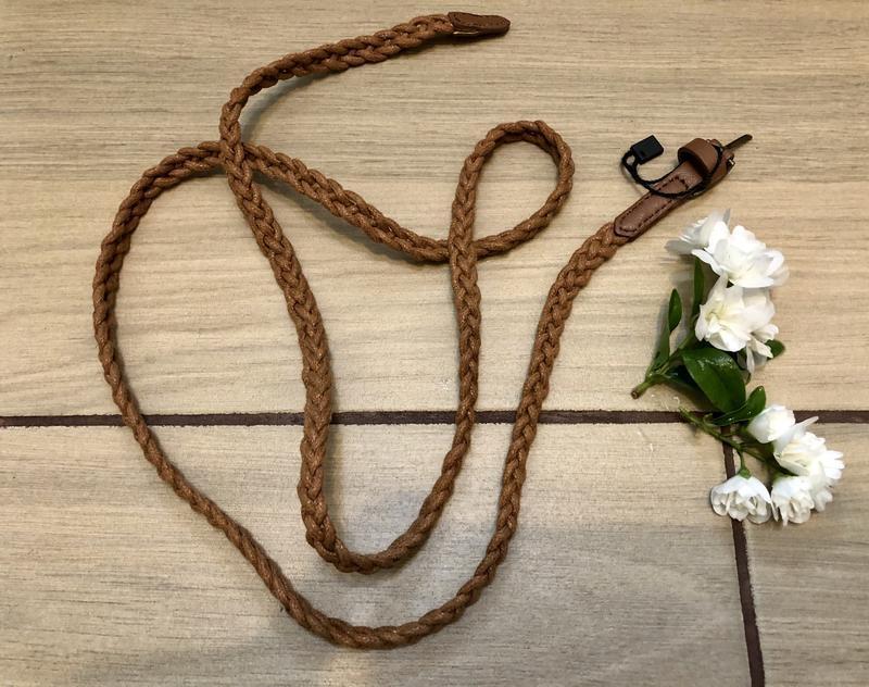 Плетёный ремешок ремень косичка - Фото 2