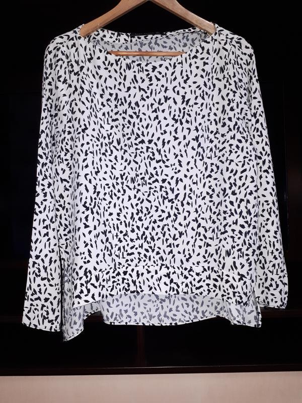 Свободная блузка в принт 100%вискоза #zara# раз.l