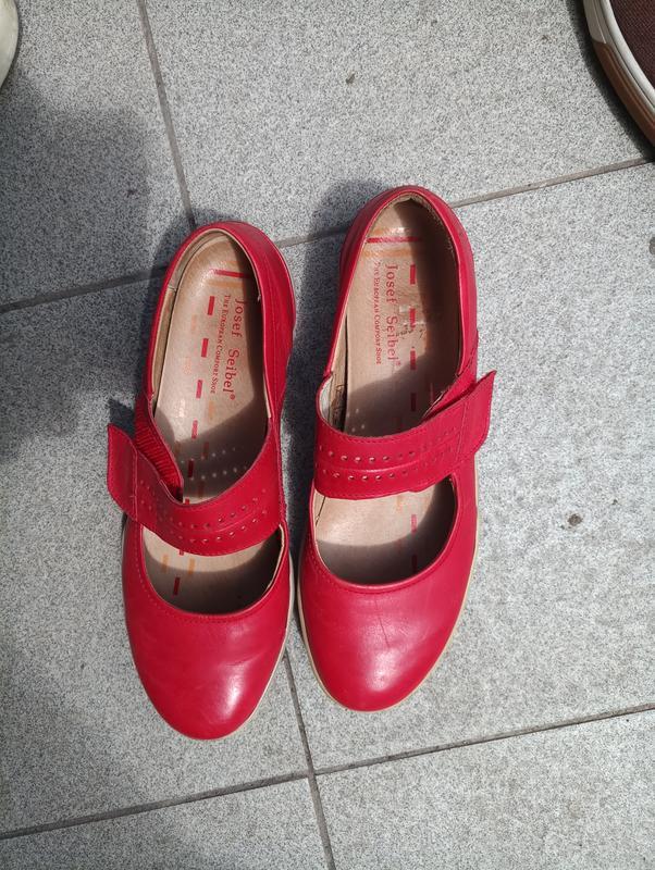 Удобные кожаные балетки, туфли 39-40 josef seibel - Фото 3