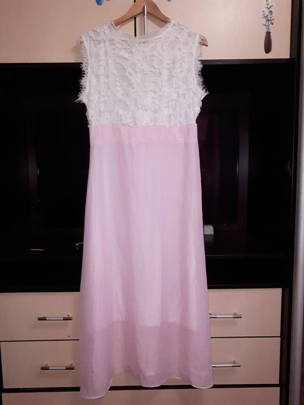 Нарядное платье с кружевом раз.l