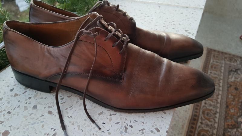 Кожаные коричневые туфли ludwig görtz 46р.