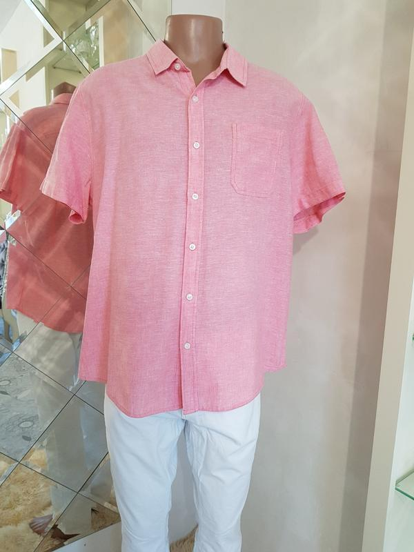 Летняя розовая рубашка