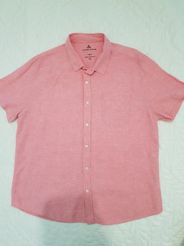 Летняя розовая рубашка - Фото 2