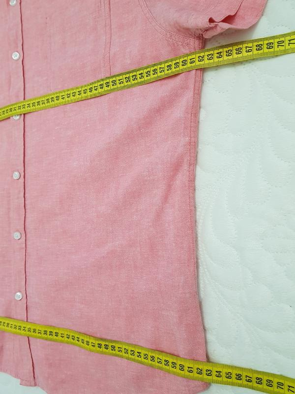 Летняя розовая рубашка - Фото 3