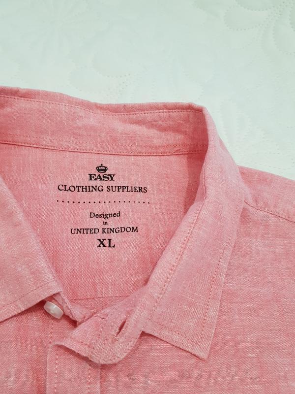 Летняя розовая рубашка - Фото 5