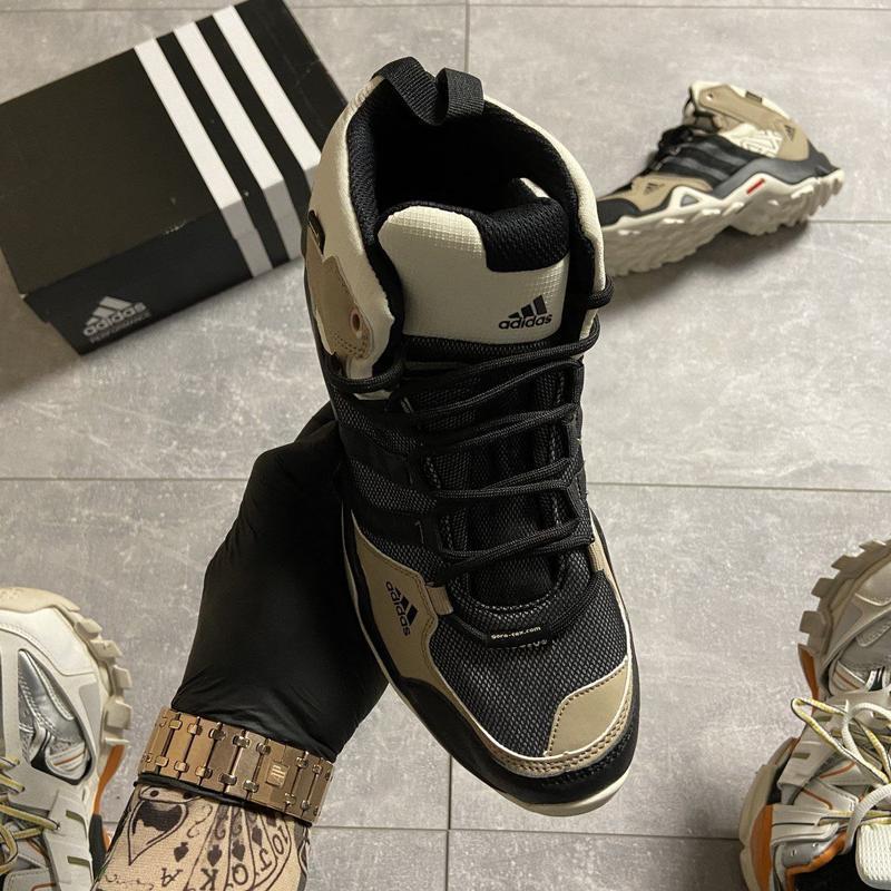 Кроссовки мужские adidas terrex ax3 beige/black - Фото 4