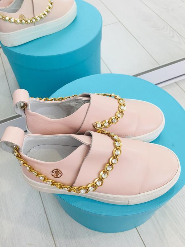 Miss blumarine шикарные туфли кеды  слипоны кожа италия
