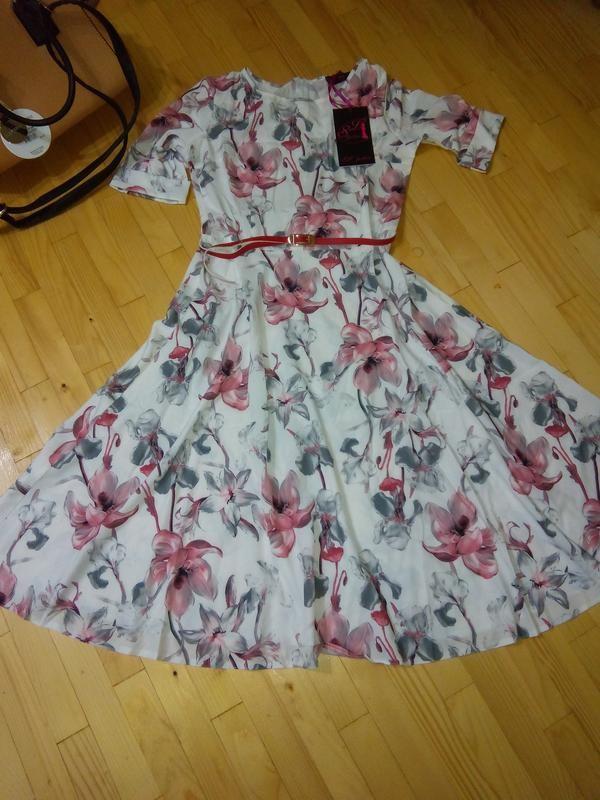 Модное, красивое, удобное женское платье на лето миди - Фото 2