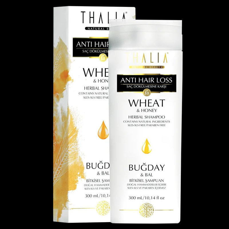 Шампунь Thalia от выпадения волос с экстрактом пшеницы и меда 300