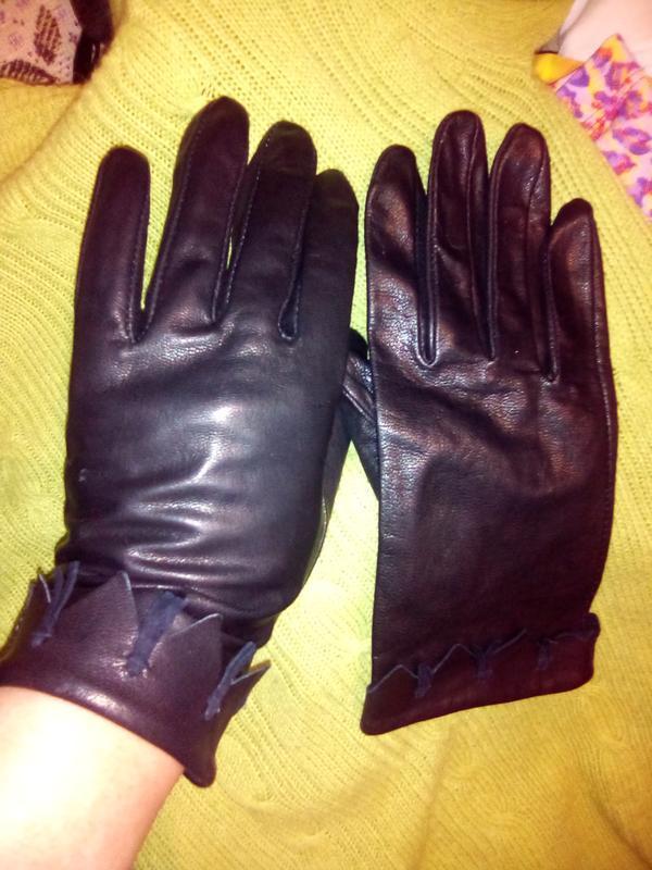 Перчатки рукавицы женские кожаные