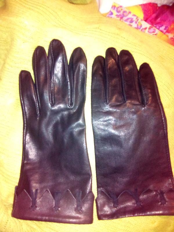Перчатки рукавицы женские кожаные - Фото 3