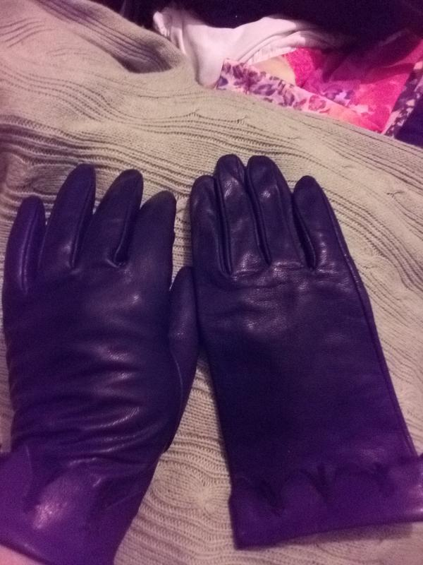 Перчатки рукавицы женские кожаные - Фото 4