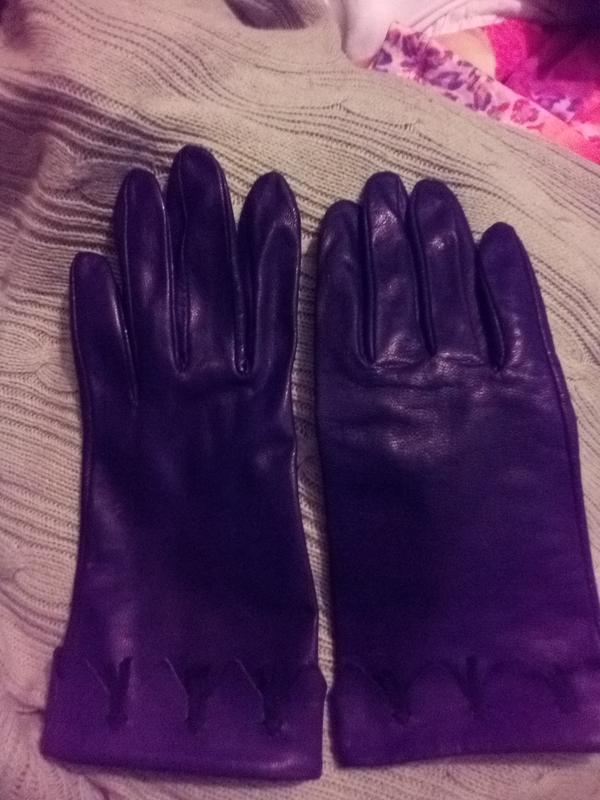 Перчатки рукавицы женские кожаные - Фото 5