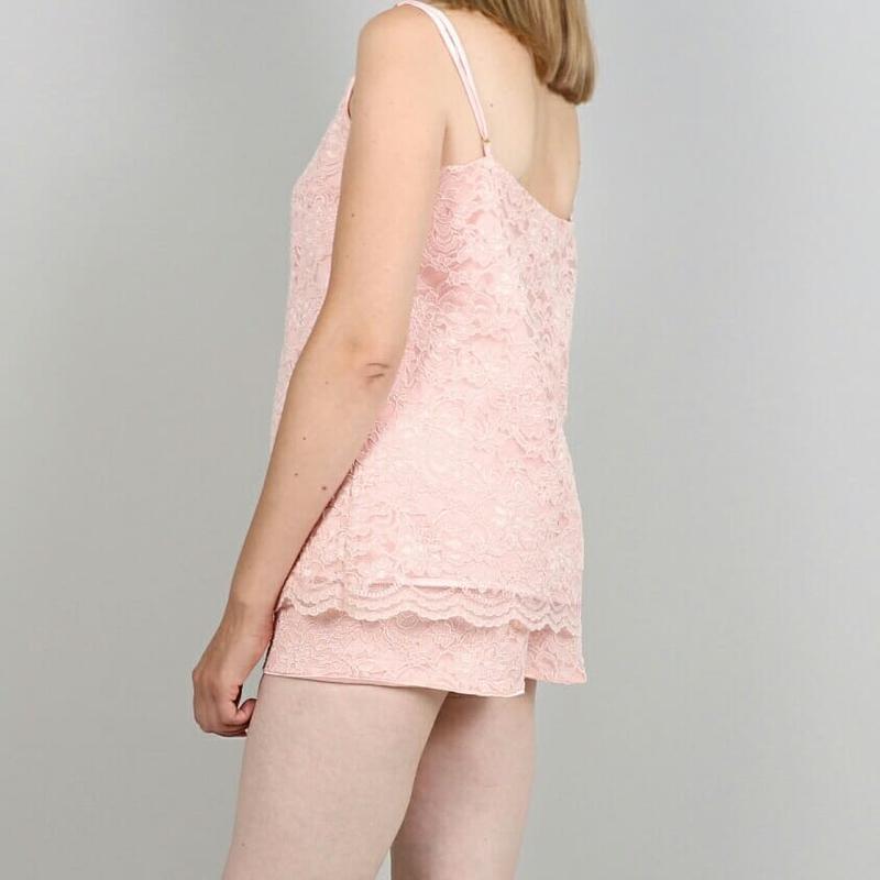 Пижама из кружева на шелковой подкладке - Фото 2