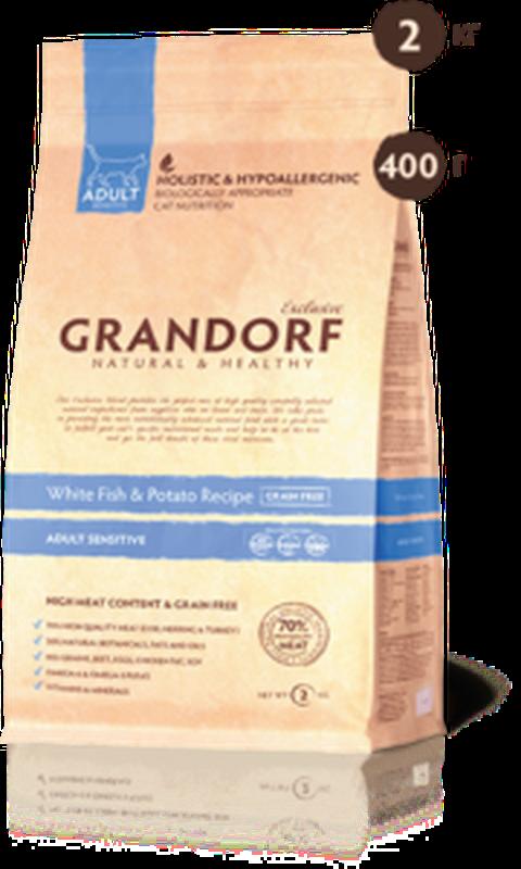 Grandorf White fish & Potato ADULT SENSITIVE 2кг
