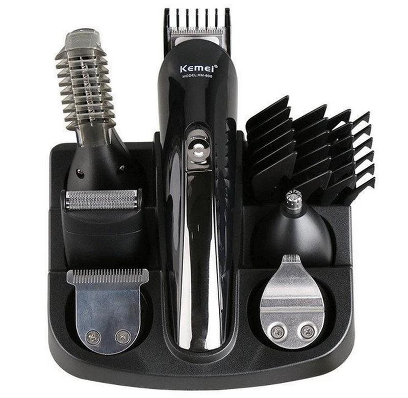 Машинка триммер для стрижки волос KEMEI KM-600 (11 В 1 + Подставк - Фото 6
