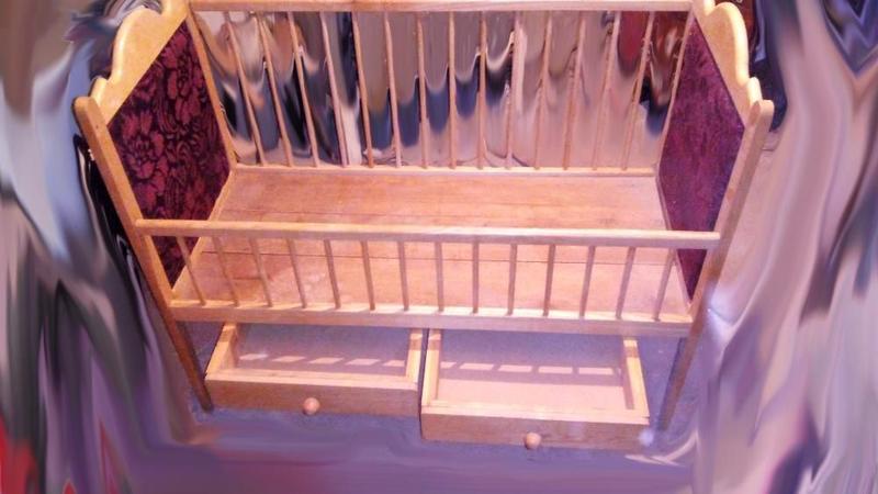 Детская кроватка из натурального дерева, ручная работа