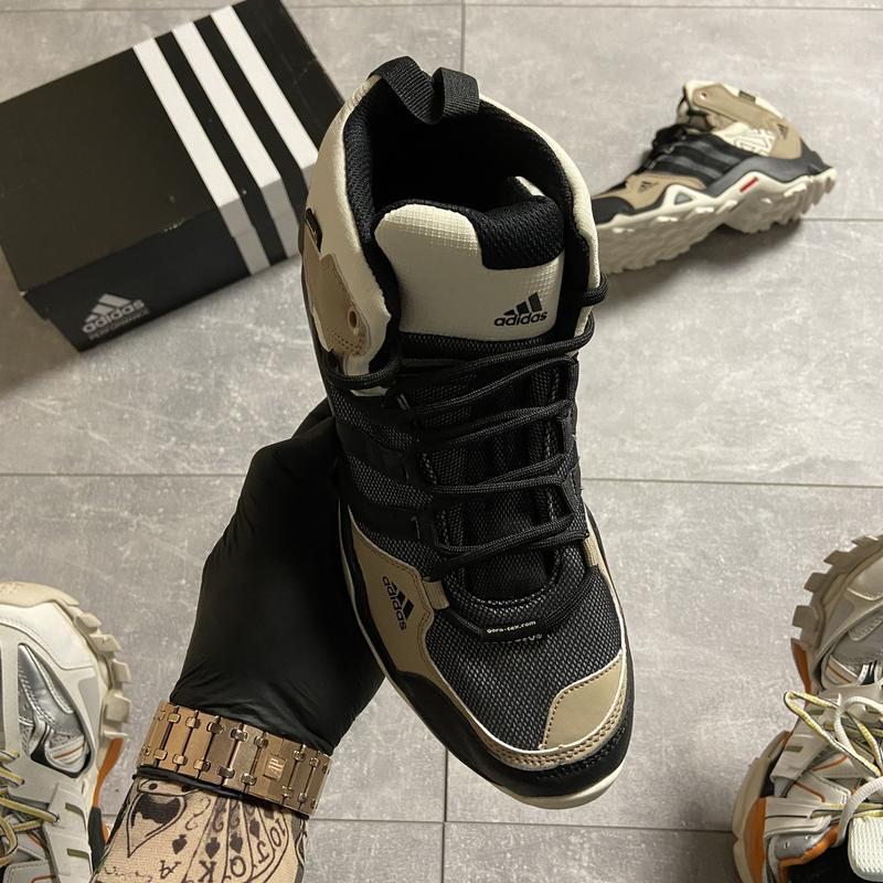Мужские кроссовки adidas terrex ax3 beige/black. - Фото 3