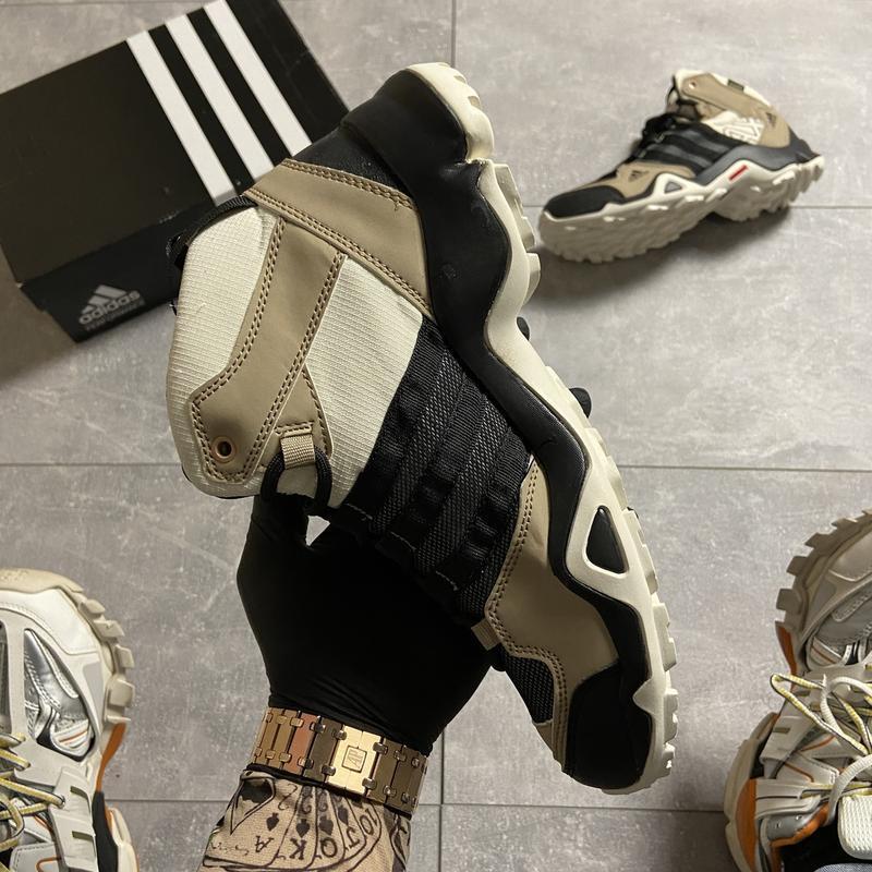 Мужские кроссовки adidas terrex ax3 beige/black. - Фото 5