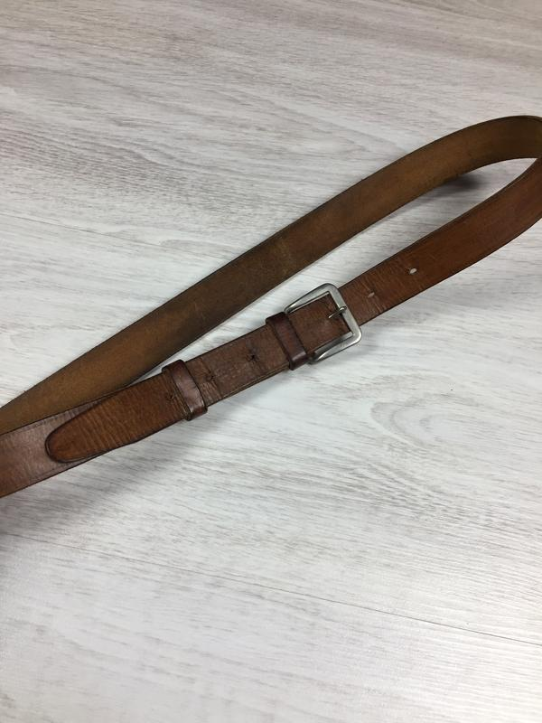 Длиный узкий мужской кожаный ремень италия
