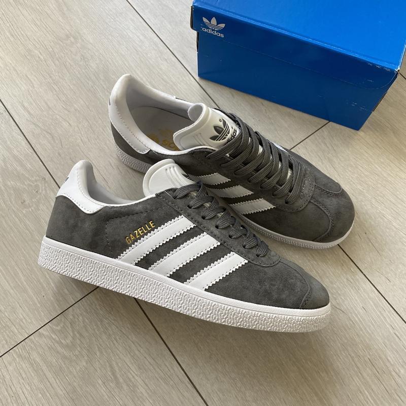 Adidas gazelle gray женские стильные кроссовки
