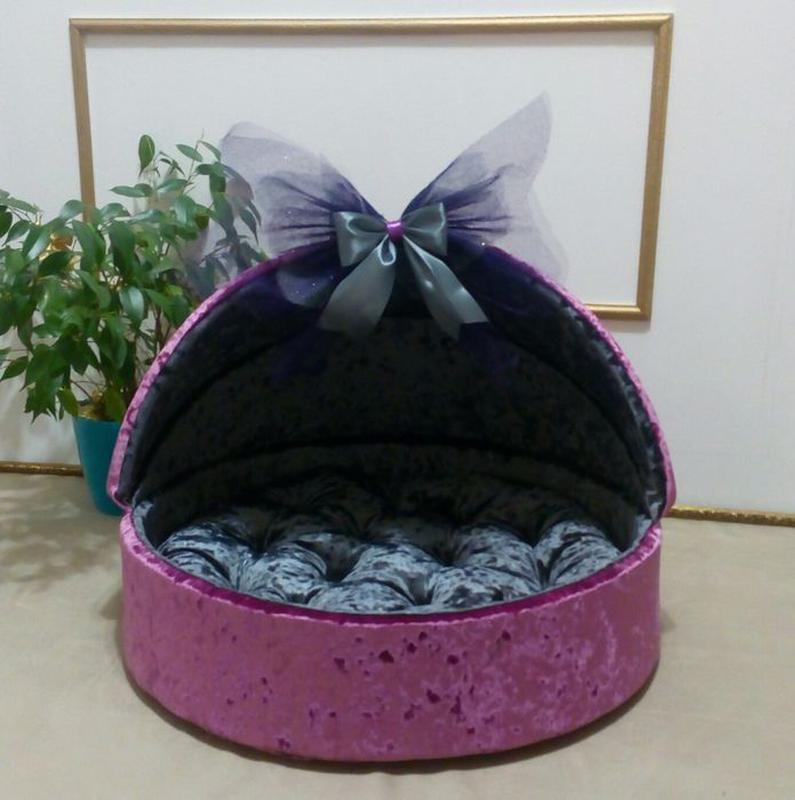 Домик люлька лежанка лежак для собак собаки кошек йорка собачек - Фото 7